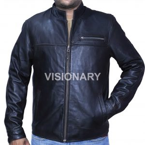 Brand New Sheepskin Original Leather Jacket for Men Plain Straight Zipper Casual