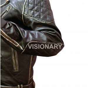 Brand New Sheepskin Original Leather Biker Jacket for Men One Skin Light Padding