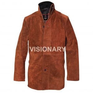 New Men's Longmire Sheriff Walt Robert Taylor Suede Cow Hide Real Leather Coat