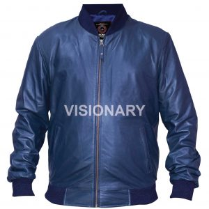 New Lambskin Original Leather Jacket For Men Glossy Finish One Skin Bomber Style