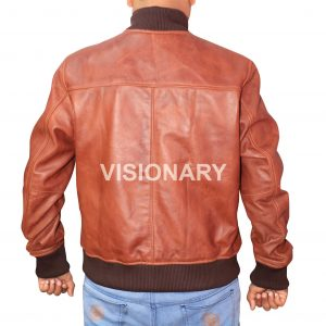 Brand New Sheepskin Original Leather Bomber Jacket for Men Double Tone One Skin