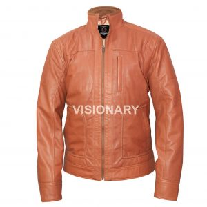 Brand New Men's Lambskin Original Leather Jacket for Men Stand up collar Biker