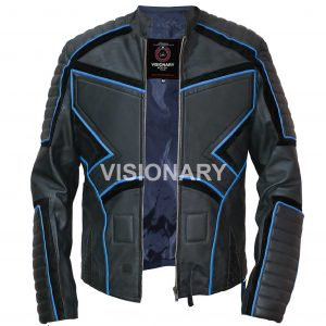 New Sheepskin Original Leather Jacket for Men Soft Biker Style Normal Padding