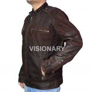 Brand New Soft Lambskin Original Leather Jacket for Men Matt Finish Snuffing